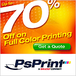 Save up to 70%Off on Full Color Printing at PS Print
