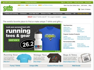 CafePress Customized Promotional Items