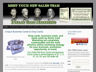 Dollar Card Marketing – Money Business Cards