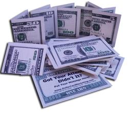 Dollar Bill Drop Cards